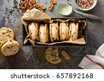 ice cream sandwiches with nuts... | Shutterstock . vector #657892168