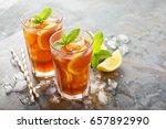 Traditional Iced Tea With Lemo...