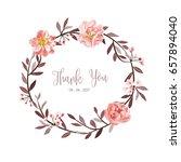 wreath of flowers in romantic... | Shutterstock .eps vector #657894040
