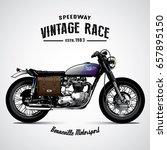 vintage motorcycle poster | Shutterstock .eps vector #657895150