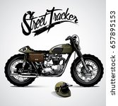 vintage motorcycle poster | Shutterstock .eps vector #657895153