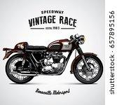 vintage motorcycle poster | Shutterstock .eps vector #657895156