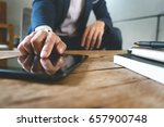 businessman working with... | Shutterstock . vector #657900748