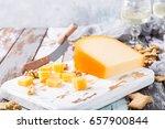 delicious dutch gouda cheese... | Shutterstock . vector #657900844