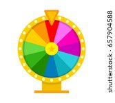 colorful fortune wheel in flat... | Shutterstock .eps vector #657904588