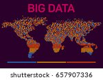 big data visualization with... | Shutterstock .eps vector #657907336