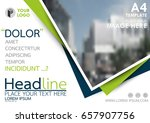 blue and green flyer cover... | Shutterstock .eps vector #657907756