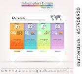 business graphics data element...   Shutterstock .eps vector #657908920