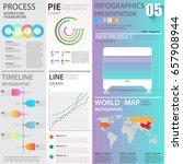 business graphics data element... | Shutterstock .eps vector #657908944