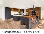 beautiful kitchen interior with ... | Shutterstock . vector #657911776