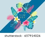 summer exotic and tropic... | Shutterstock .eps vector #657914026