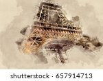 old buildings and structures.... | Shutterstock . vector #657914713