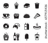 fast food icons set | Shutterstock .eps vector #657915436