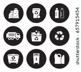 recycling plastic icons set | Shutterstock .eps vector #657915454