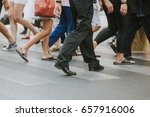 busy city street crossing with... | Shutterstock . vector #657916006