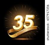 35 years golden anniversary... | Shutterstock .eps vector #657917356