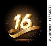 16 years golden anniversary... | Shutterstock .eps vector #657920794