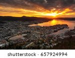 panoramic view of bergen from... | Shutterstock . vector #657924994