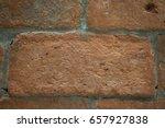 red brick joints | Shutterstock . vector #657927838