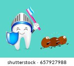 cute cartoon tooth character... | Shutterstock .eps vector #657927988