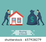 buying house. deal sale and... | Shutterstock .eps vector #657928279