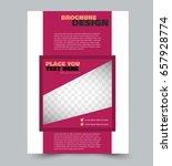 business flyer template a4 size....   Shutterstock .eps vector #657928774