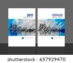 cover design for annual report... | Shutterstock .eps vector #657929470