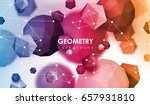 abstract poligonal background.... | Shutterstock .eps vector #657931810
