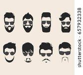 set of vector mustache  beards... | Shutterstock .eps vector #657932338