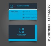 dark and light blue business... | Shutterstock .eps vector #657933790