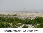 landscape with sea view  waves... | Shutterstock . vector #657935494