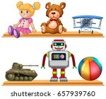 different types of toys on... | Shutterstock .eps vector #657939760