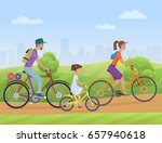 young family with girl kid... | Shutterstock . vector #657940618
