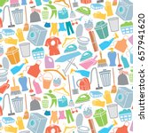 background pattern with laundry ...   Shutterstock .eps vector #657941620