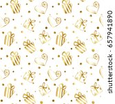 seamless pattern with little... | Shutterstock .eps vector #657941890