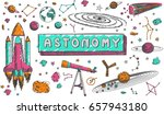 astronomy science education... | Shutterstock .eps vector #657943180