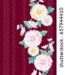 japanese style chrysanthemum... | Shutterstock .eps vector #657944410