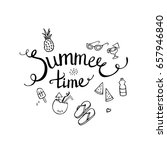 inscription summer time with... | Shutterstock .eps vector #657946840