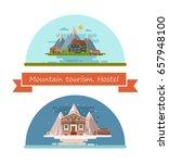 set of houses for the travelers ... | Shutterstock .eps vector #657948100