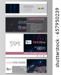 social media and email headers... | Shutterstock .eps vector #657950239