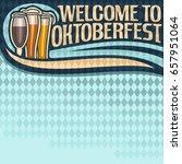 vector poster for oktoberfest... | Shutterstock .eps vector #657951064