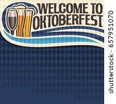 vector poster for oktoberfest... | Shutterstock .eps vector #657951070