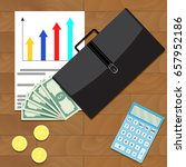 economic and financial growth... | Shutterstock .eps vector #657952186