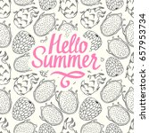 seamless nature pattern with... | Shutterstock .eps vector #657953734