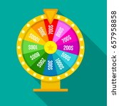 fortune of wheel  flat icon... | Shutterstock .eps vector #657958858