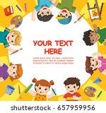 back to school. cute children...   Shutterstock .eps vector #657959956