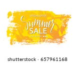 summer sale banner. tropical... | Shutterstock .eps vector #657961168