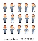 set of businessman characters... | Shutterstock .eps vector #657962458