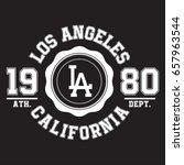 los angeles  california... | Shutterstock .eps vector #657963544