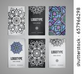 set of vector design templates. ... | Shutterstock .eps vector #657966298
